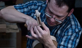 String instrument repairer in residence at Prairie Cello Institute 2019